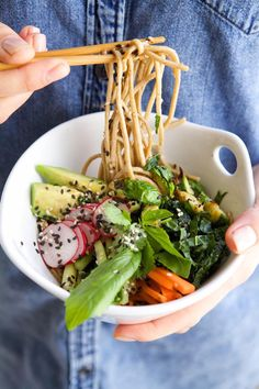 Soba Noodle Bowl Recipe | via Camille Styles