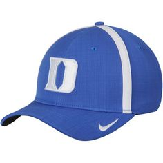 finest selection b5f23 4de6f Men s Nike Royal Duke Blue Devils 2017 Sideline AeroBill Coaches Performance  Adjustable Hat