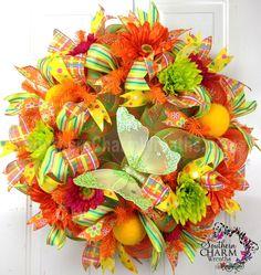 Summer Deco Mesh Wreath - Bing Images