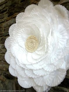 GIANT coffee filter flower - christina's adventures
