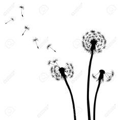 18424102-Floral-background-dandelion-Stock-Vector-dandelion-drawing-white.jpg (1300×1300)