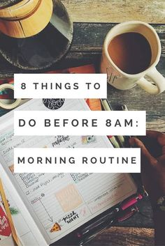 Having a morning routine can help jump start your productivity and help you be productive for the rest of the day. Here are 8 things I do before 8 am. Having a morning routine can help jump start your productivity and help you be p. Good Habits, Healthy Habits, Healthy Life, Morning Habits, Morning Routines, College Morning Routine, Morning Routine Printable, Bedtime Routine, Morning Routine Chart