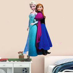 Hot Sale Cartoon Characters Frozen Frozen Waterproof Environmental Protection Wall Stickers  Free Shipping