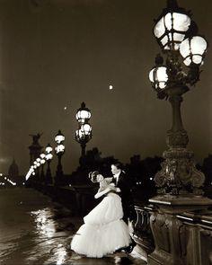 Alexandre III Bridge -  Paris 1957  - Richard Avedon