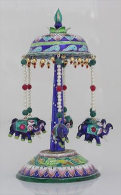 Funfair Elephant Swing Miniature Enamel