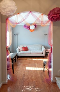 Other way to use tulle in decoration !