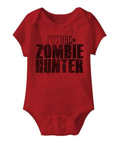 Loving this Red 'Zombie Hunter' Bodysuit - Infant on #zulily! #zulilyfinds
