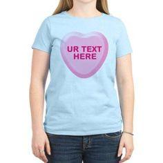 Cafepress Personalized Banana Candy Heart Women's Light T-Shirt, Size: Medium, Blue