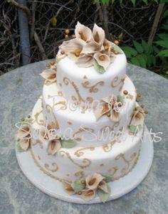 Elegant Fondant Wedding Cakes- wedding cake