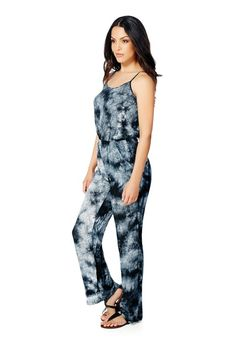 Fashion-Clothing-Tye-Dye Print Jumpsuit-2328742