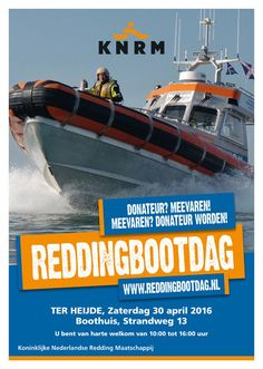 Reddingbootdag in Ter Heijde, morgen 30-4-2016