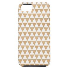 Modern tribal geometric triangle striped studs Andes pattern on a light wood photo background Aztec print iphone 5 5S case / cover.