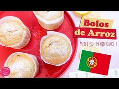 La recette des bolos de arroz, des muffins portugais à la farine de riz ! Aromatisé au citron et à la cannelle, c'est un délice :) Muffins, Cupcakes, Pudding, Rice Flour, Portuguese, Breakfast, Portugal, Desserts, Rice Ball