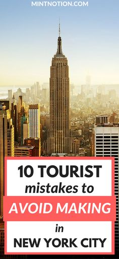 Planning New York City Travel? What NOT to do in NYC | NYC On A Budget | NYC Guide