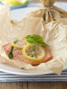 simple & healthy way to bake salmon. i ran out of tin foil and this saved the day! delicious.