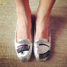 Flirting glittered slippers from Chiara Ferragni