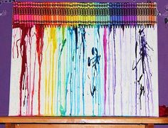 crayon art on canvas Crayon Art, Cool Art, Canvas Art, Cool Stuff, Melted Crayon Crafts, Painted Canvas, Canvas Wall Art, Melted Crayon Art, Pencil Art