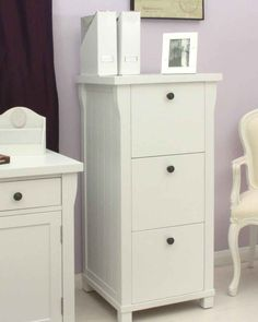 Practical And Attractive Extra Home Or Office Storage Is Provided By This Three Drawer Filing