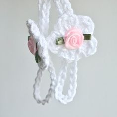 Baby Barefoot Sandals Crochet Baby Sandals by BabyGraceHats... I'm thinking we could make some of these!