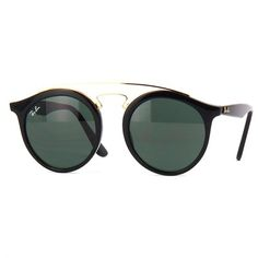 ca4a25baa Óculos de Sol Ray Ban New Gatsby Round Preto com Lente Verde - RB425660171