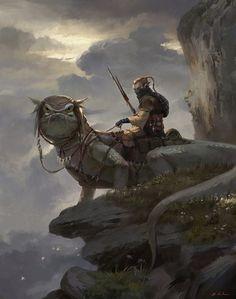 旅者, cl z on ArtStation at https://www.artstation.com/artwork/-51bf5e88-2962-4ccd-9569-8e82f39c2e27