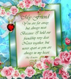 For You My Dear Friend,BD,I hope you are not in to much pain and I long to have you back chatting away and laughing. Always here for you my lovely friend GBU xoxoxoxo