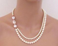 Collana nuziale di cristallo collana da sposa di treasures570