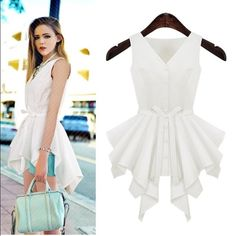 Goodnight macaroon asymmetrical peplum tank Goodnight macaroon asymmetrical hem. Peplum tank. Size medium or us 6. Worn once. Light linen like material. So cute for summer coming up. In excellent condition. All the fashion bloggers wear goodnight macaroon. Great quality. Goodnight macaroon Tops Tank Tops
