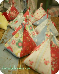 PYRAMIDS-Cath Kidston Fabric Doorstops | claireabellemakes