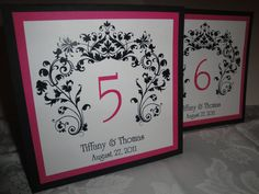 Damask Table Numbers by UnforgettableDsgns on Etsy, $2.50