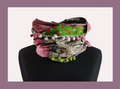 "Neck scarf / snood bohemian chic ""Rana"" One of a kind - pinned by pin4etsy.com"