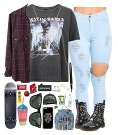 """""""Major Lazer - Cold Water (feat. Justin Bieber & MØ)"""" by daltonsprincess ❤ liked on Polyvore featuring Charlotte Russe, Topshop, Gucci, Étoile Isabel Marant, Dr. Martens, Casetify, Ray-Ban, Amara, Carmex and Fountain"""