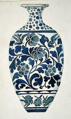 still life quick heart — Morris & Co. Design for a Vase century Blue Pottery, Pottery Art, Ceramic Painting, Ceramic Art, Pottery Painting Designs, Morris, Arts And Crafts Movement, Vases, Chinese Art