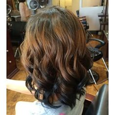 reverse ombre hair brown to black - Google Search