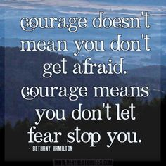Be Not Afraid! Have Courage! by Virginia Lieto -     Being afraid will never solve a problem, for fear is a product of the devil. Facing one's fears, with courage is incumbent upon those who walk with Christ. Read more: http://virginialieto.com/be-not-afraid-have-courage/