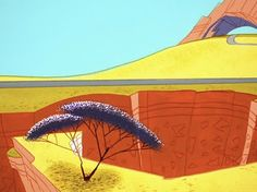 "Background art from ""To Beep or Not to Beep"" by Warner Brothers (from Animation Backgrounds, via Eight Hour Day)"