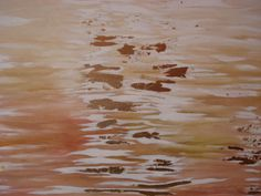 """""""Waters"""", painting (acrilyc and golden foil), 2010, point of view n.3."""