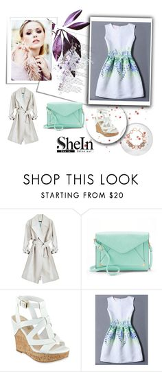 """""""Shein dress"""" by starspy ❤ liked on Polyvore featuring Apt. 9, ShoeDazzle and WithChic"""