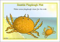 Seaside playdough mats (SB2423) - SparkleBox