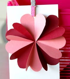 DIY Valentines Day Cards - Hearts Flower Card - Easy Handmade Cards for Him and Her, Kids, Freinds and Teens - Funny, Romantic, Printable Ideas for Making A Unique Homemade Valentine Card - Step by Step Tutorials and Instructions for Making Cute Valentine's Day Gifts http://diyjoy.com/diy-valentines-day-cards