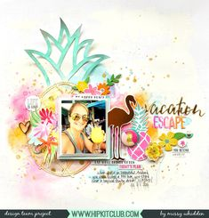 Hip Kit Club DT Project - 2017 April Hip Kits; Crate Paper Oasis, Pink Paislee Paige Evans Oh My Heart, Vicki Boutin mixed media, My Mind's Eye, exclusive Hip Kit flair and cut files