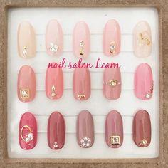 nails - nail salon Leamのネイルデザイン[No Sparkle Nails, Pink Nails, Asian Nails, Self Nail, Korean Nail Art, Asian Nail Art, Tie Dye Nails, Watermelon Nails, Nail Jewels