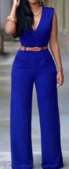 Cobalt Blue Jumpsuit ❤︎                                                                                                                                                      More