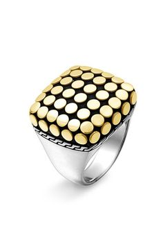 "John Hardy ""Dot Gold' Square Ring---A MUST HAVE!"