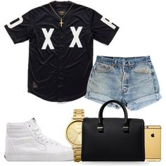 Untitled #453 by kgoldchains on Polyvore featuring Levi's, Vans, Victoria Beckham, Oasis, Sterling Essentials and Goldgenie