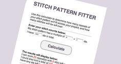 Stitch Pattern Calculator – Laylock Knitwear Design