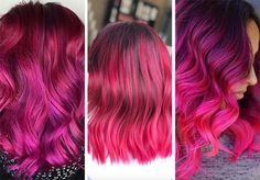 63 Hot Red Hair Color Shades to Dye for: Red Hair Dye Tips & Ideas Magenta Hair Colors, Bright Red Hair, Hair Dye Colors, Pretty Hair Color, Color Your Hair, Hair Color Dark, Dyed Tips, Hair Dye Tips, Red Ombre Hair
