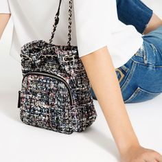 Image 1 of MINI FABRIC QUILTED BACKPACK from Zara