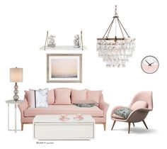 """""""Blush and Marble"""" by ac-awesome ❤ liked on Polyvore featuring interior, interiors, interior design, home, home decor, interior decorating, NOVICA, Currey & Company, Urban Outfitters and Wedgwood"""