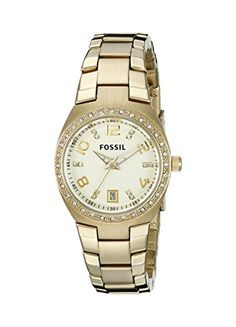 Fossil-Womens-AM4557-Serena-Crystal-Accented-Gold-Tone-Stainless-Steel-Watch #womenswatch #womensstyle #womensfashion #fossil #fossilwatch